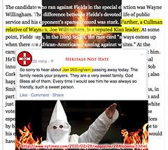 Death of #Alabama Ku Klux #Klansman Joe Willingham - s (SouthernBreeze) Tags: usa color photography photo al unitedstates alabama joe asshole hate hatred racism kkk racist willingham scumbag klan 2014 bigot kukluxklan cullman bigotry southernbreeze