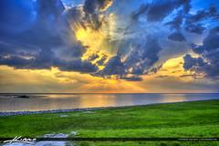 Beautiful Clouds Over Lake Okeechobee (Captain Kimo) Tags: sky clouds florida sunray lakeokeechobee photomatixpro hdrphotography hdrsoftware captainkimo