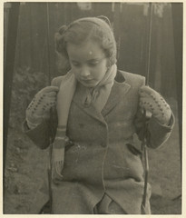 sad child (Parsonago) Tags: old girl vintage found 1930s sad little 1940s photograph haunting