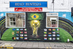 Head Hunters World Cup 2014 Mural (sparkeyb) Tags: city brazil streetart art cup sport 35mm graffiti iso100 football teams italian nikon mural shoot artist artistic stadium fifa country competition flags victory barbershop tournament goals trophy spraypaint colourful d200 worldcup players squad f18 miss losers score essex winners victors nations barbers footie chelmsford penalties compete headhunters springfieldroad julesrimettrophy comeonengland worldcup2014 braveonecouk bravearts sparkeyb italianbarbers