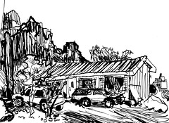 My House in AJ (Kerry Niemann) Tags: house inkdrawing superstitionmountains