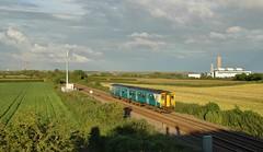 150285 at St Athan. 27/6/14 (Nick Wilcock) Tags: wales merthyrtydfil railways valeofglamorgan bridgend arriva sprinter 1502 dmu atw arrivatrainswales class150 stathan aberthawpowerstation 150285 2e56