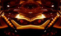 Resistance is futile.... (Tau Zero) Tags: robot headlight corvette redscale digitalmirror