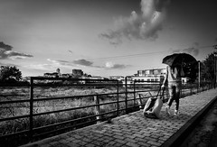 Going through changes (marc_anto 1980) Tags: road street blackandwhite girl landscapes cityscapes