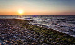 Golden Shores [Explored] (JennTurner) Tags: sunset summer water canon kent seaside waves tide coastal cobbles slipway 6d reculver