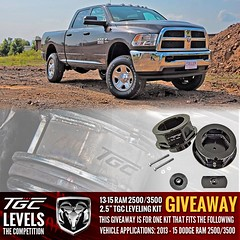 TGC Leveling Kit Giveaway (TopGunCustomz) Tags: ford chevrolet truck gm nissan jeep offroad suspension free follow chevy bumper toyota dodge win ram gmc dss coils 2500 coilovers ledlights 3500 spacers controlarms swaybar tgc steeringstabilizer lightbars liftkit levelingkit trackbar leafsprings suspensionsystem tractionbar suspensionlift 4link ladderbar coilssprings wheelspacers suspensionlifts addaleaf topgunz topguncustomz liftspacers truckdaily topguncustoms tgclevelingkits tgcliftkits tgcsuspension topguncustomzlevelingkits topguncustomzliftkits liftblocks liftblockset blockandubolts dualsteeringstabilzer swaybarendlinks