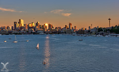 Seattle - The Golden Hour (DanielKHC) Tags: seattle park light usa golden nikon cityscape gas hour works wa hdr d810 nikkor2470mmf28 photoengine oloneo