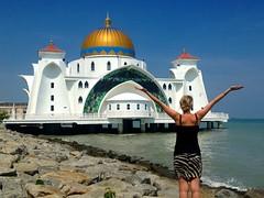 La superbe mosquée de Selat Malacca