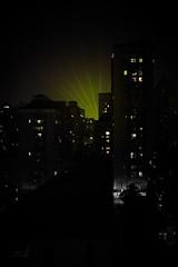 Night Light Fan (floriansenand) Tags: china city green buildings nightlights skyscrapers shanghai vert laser ville chine immeubles greatphotographers wondersofnature grattesciel lumiresdenuit laquintaessenza floriansenand
