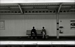 Charlton train station - South East London, England (Sandrine Vivs-Rotger photography) Tags: london station train bench reading waiting sitting charlton