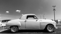 Strictly business (GmanViz) Tags: sky blackandwhite bw car nikon automobile profile plymouth business custom coupe 1949 gmanviz d7000 goodguysppgnationals