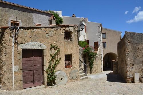 Village street in Occiglioni (Corsica, France 2014)