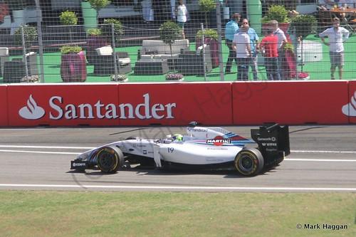 Felipe Massa in Free Practice 3 ahead of the 2014 German Grand Prix