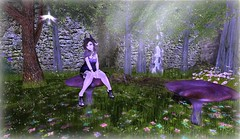 ~*Fairy Forest*~ (larindaravenheart) Tags: forest magic sl fairy secondlife mystic peachy magika fairyforest theplastik thesugargarden {peachy}