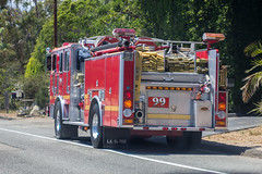 Los Angeles County Fire Malibu County Line Engine 99 (Pyrat Wesly) Tags: california canon malibu pch hi
