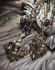 N-3480-, N-3481 (Kotomi_) Tags: vintage necklace costume handmade style jewelry medieval jewellery collection polymerclay historical period byzantine naturalstone semiprecious 2014 autumnwinter  kotomi    kotomiyamamura kotomijewellery    aw2014 aw2014kotomi