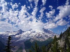 Mt. Rainier from Burroughs Mountain (E li s a beth) Tags: sky mountain mountains clouds landscape washington outdoor hiking glacier mountainside mtrainier mountainpeak