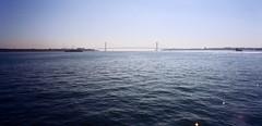 Verrazano Narrows (Poochie, a Dog on the Internet) Tags: film bridge statenisland nyc water verrazanonarrows