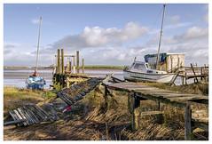 Skippool Creek (Digital Wanderings) Tags: skippolcreek skippool wyreestuary poultonlefylde boats jetty woodenjetty stormdamage
