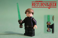 Lego Custom Star Wars: Luke Skywalker (The FUDGY) Tags: luke skywalker rotj star wars custom lego return jedi
