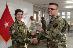 "143d ESC 2017 BEST WARRIOR COMPETITION, PART 4: PRIDE (143d Sustainment Command (Expeditionary)) Tags: ""army reserve"" ""143d sustainment command expeditionary"" 143d esc ""best warrior competition"" ""camp blanding"" ""florida"" march 2017 soldiers competitors ""drill sergeant"" a2485 mopp claymore weapons m16 m9 m249 m240 stations mout ""obstacle course"" ""air assault"" climb run jump noncommissioned officers ncos ""combat lifesaver"" ""first aid"" ""nine line"" radio ceremony"" dnc rope ladder ruck gear chemical garment groups course test simulation exercise practical ""basic military training"" award trophy 377ththeatersustainmentcommand 377thtsc"