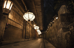Temple Lights (ScottSimPhotography) Tags: summer evening night quiet nigatsudo nara japan todaiji narapark temple wooden walkway platform shrine famous sightseeing trip visit dark japanese asia asian