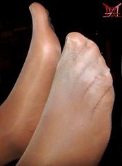 Wrapped for Delivery (Claudio (Tania Zandalz - wife)) Tags: mature sexy latina kapikua1 female woman wife amateur mexico feet toes pantyhose stockings nylons seams sheer madura femenina mujer esposa pies dedos pantimedias medias costuras transparente
