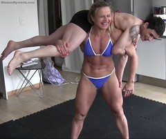 Lift & Carry (Madam Mysteria) Tags: liftcarry lifting power overshoulders firemanslift strongwomen muscle legs fetish mysteria video clips4sale