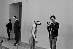 It's almost like looking in a mirror (adam_moralee) Tags: its almost like looking mirror blackwhite black white bw wb portrait male man young photographer exhibit tate modern tatemodern london art museum adam moralee adammoralee nikon7000 nikon d7000 nikond7000 18200mm tamron lens people