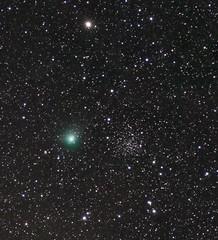Comet Lovejoy on 051915 near NGC 188 (northern_nights) Tags: comet cometlovejoy ngc188 nikond7100 nikon180mmf28 santafe newmexico astrometrydotnet:id=nova1957809 astrometrydotnet:status=solved
