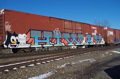 HIWAY (Fan-T) Tags: 239211 hudson hiway conrail cr 86 foot hy cube boxcar auto parts ps pullman standard graffiti