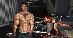 Okay, You Fix It Then!! (sam Lycan) Tags: avatar avi ava firestorm mechanic car fix couples fight annoyed cute adorable sexy secondlife sl virtualworlds messy dirty grunge vehicle mcm wcw silly funny girlsdoitbetter
