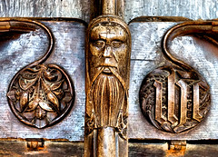 Green Man (tina negus) Tags: cley church north choir stalls green man supporters norfolk carving wood