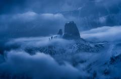 The lost Towers (Sagui Andrea) Tags: dolomiti dolomiten dolomites paesaggio landscape alpi alps montagna mountain unesco blu blue torri tower nikon veneto italia italy