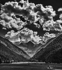 Val d'Aosta (gibel49) Tags: valdaosta cogne bn monocromatico montagna v nuvole prato valli