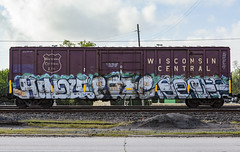 (o texano) Tags: houston texas graffiti trains freights bench benching hindue gtb pque popquiz wh sws d30 a2m adikts soner