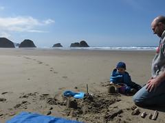 baby beach zone (carolyn_in_oregon) Tags: crescentbeach cannonbeach pacificocean ecolastatepark coast al allie jacob