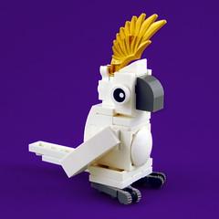 Cuddly Toys: Cockatoo (Swan Dutchman) Tags: lego toy cuddlytoy stuffedtoy plushtoy plushies snuggies stuffies snuggledanimals stuffedanimals softtoys knuffel knuffelbeest knuffeldier cockatoo kaketoe
