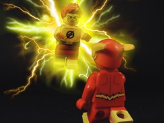 This is Hello and Good-bye (MrKjito) Tags: lego minifig super hero dc comics rebirth issue 1 wally west flash kid barry allen who are you every second was gift hello goodbye custom