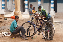 Village life (wietsej) Tags: village life sonyalphadslra900 a900 sal70200g 70200 kawardha chhattisgarh india bycicle rural tribal people