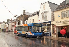Wet in Whitstable (Lost-Albion) Tags: stagecoach dennisdart 34090 s490bwc whitstable kent