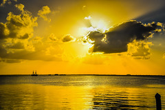 Yellow Sunset on the Lagoon at La Isla Shopping Village - Cancun Mexico (mbell1975) Tags: cancún quintanaroo mexico mx yellow sunset lagoon la isla shopping village cancun yucatán yucatan quintana roo riviera maya rivieramaya water caribbean sea ocean gulf cove bay orange sun