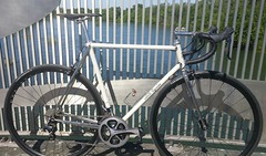 20170423_102631-1 (AR Cycles) Tags: ar cycles custom columbus true temper ox platinum kva stainless steel henry james lugs lugged road bike mechanical shimano dura ace pearl white paint polished fillet stem chrome