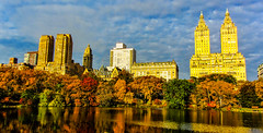 A view from the lake in Central Park N. Y. (The city guy ☺) Tags: walkinginthecity walkingaround walking travelling lake afternoon colors cityscapes clouds newyork exploration neighborhood outdoors centralpark