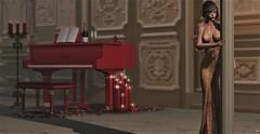 Kingdom Come (Star Majere) Tags: avatar virtual piano music gown blueberry star secondlife maitreya catwa sl ballroom photography lumipro boudoir