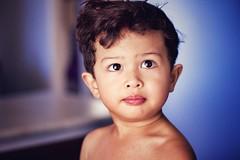 (Gideon McLaren) Tags: bigeyes handsomeboy cute 2yearold toddler baby blue purple primelens canon newhaircut shininglight