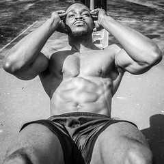 IMG_6053 (Zefrog) Tags: zefrog london uk muscle man portraiture bw sixpack pecs fit fitness blackman iyo personaltrainer bodybuilder