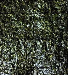 Sheet of Nori (sjrankin) Tags: 2april2017 edited closeup yubari hokkaido japan nori seaweed green food
