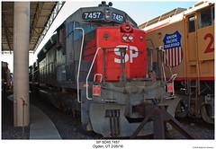 SP SD45R 7457 (Robert W. Thomson) Tags: sp espee southernpacific emd diesel locomotive sixaxle sd45 sd45r train trains trainengine railroad railway ogden utah