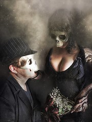 Til Death Do Us Part (Kat McClelland) Tags: skull engaged love portrait darkarts gothic